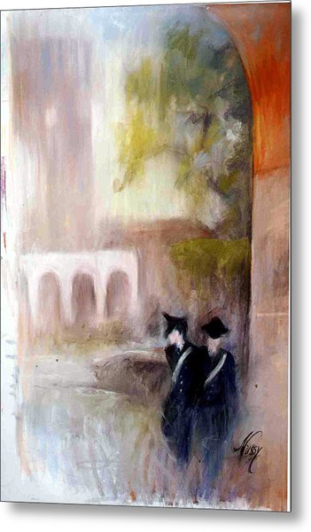The Patrol In Pomezia Metal Print by Elisabeth Nussy Denzler von Botha