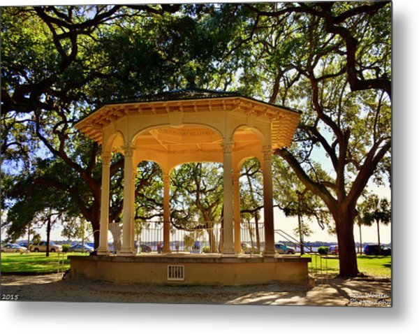 Metal Print featuring the photograph The Pavilion At Battery Park Charleston Sc  by Lisa Wooten