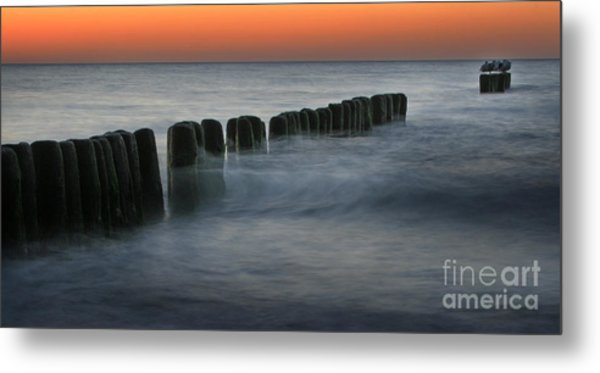 The Peaceful Sea Metal Print by Angel Ciesniarska