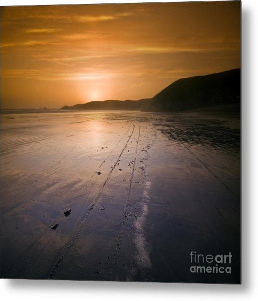 The Pembrokeshire Sunset Metal Print by Angel Ciesniarska