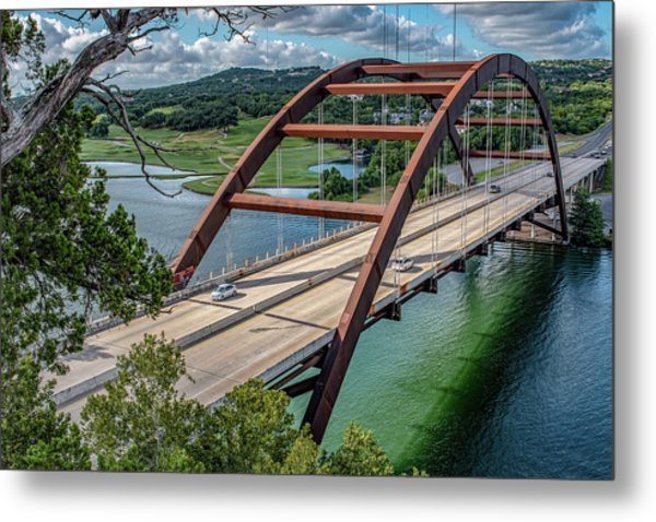 The Pennybacker Bridge Metal Print