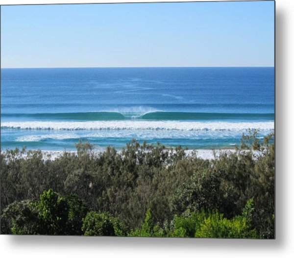 The Perfect Wave Sunrise Beach Queensland Australia Metal Print