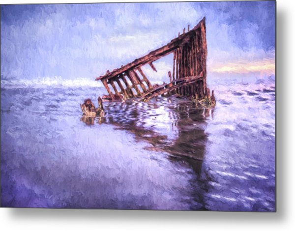A Stormy Peter Iredale Metal Print