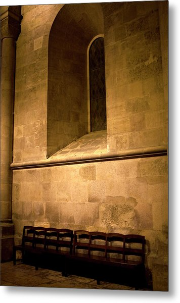 Metal Print featuring the photograph The Pew by Lorraine Devon Wilke