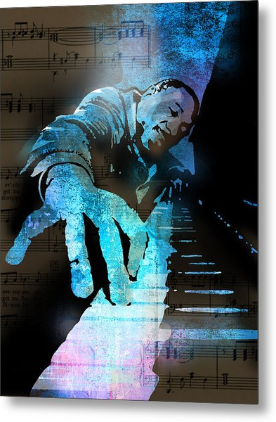 The Piano Man Metal Print