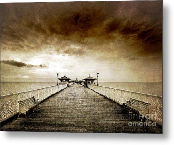 the pier at Llandudno Metal Print