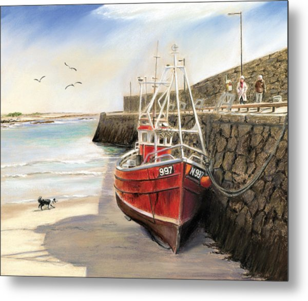The Pier At Spiddal Galway Ireland Metal Print by Irish Art