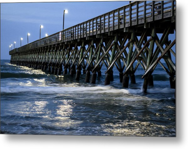 The Pier At The Break Of Dawn Metal Print