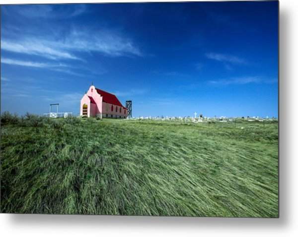 The Pink Church Metal Print