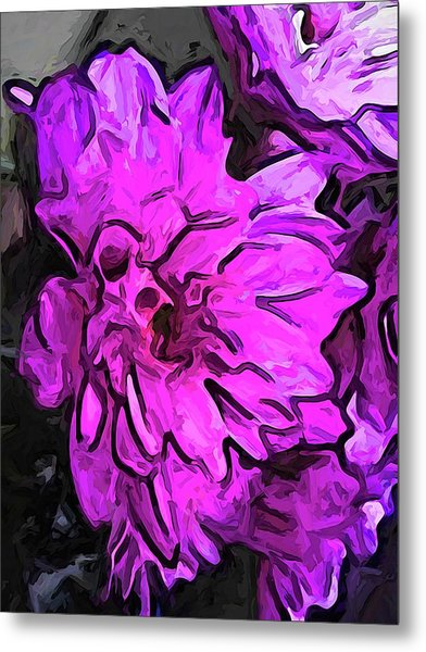 The Pink Flower With The Lavender Edges Metal Print