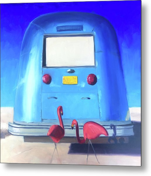 The Pink Hitchhikers Metal Print