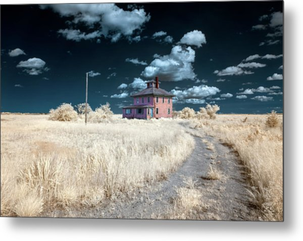 The Pink House In Halespectrum 1 Metal Print