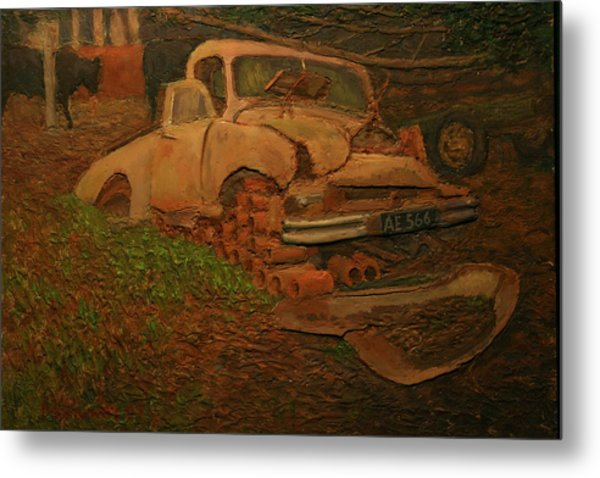 The Pipe Cover Metal Print by Terry Perham
