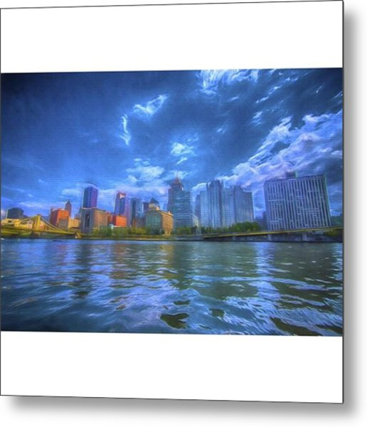 The Pittsburgh Skyline From The Walkway Metal Print