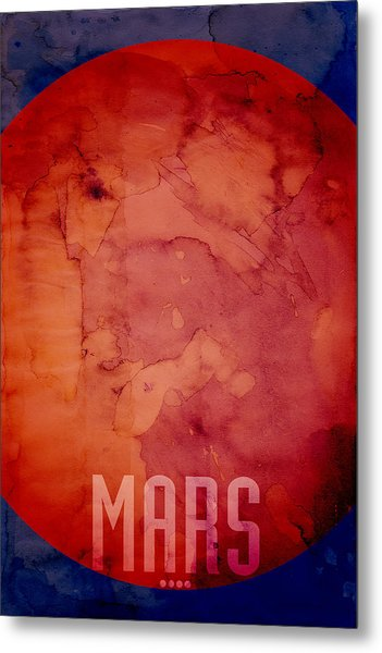The Planet Mars Metal Print
