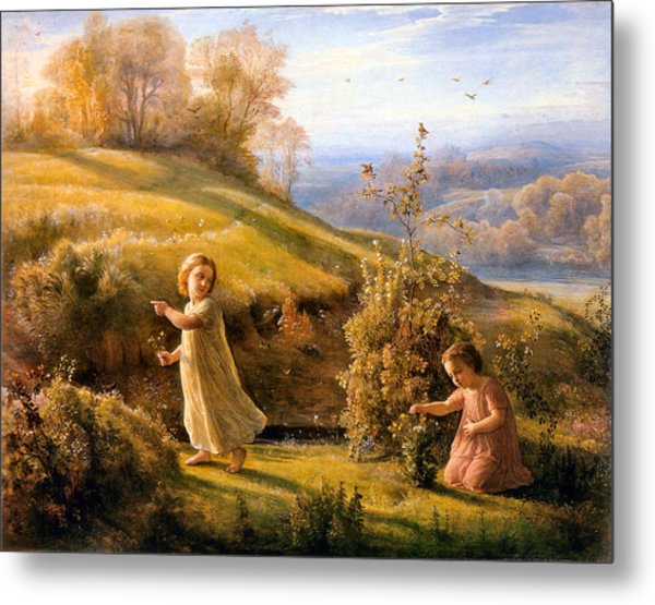The Poem Of The Soul Spring Anne Francois Louis Janmot 1854. Metal Print