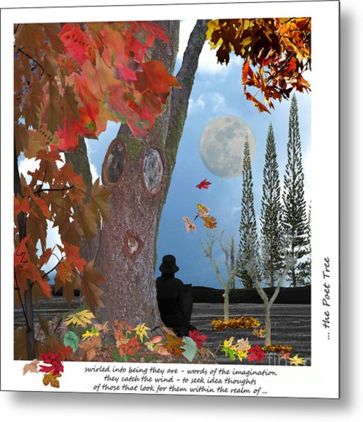 The Poet Tree Metal Print by Lozja Mattas