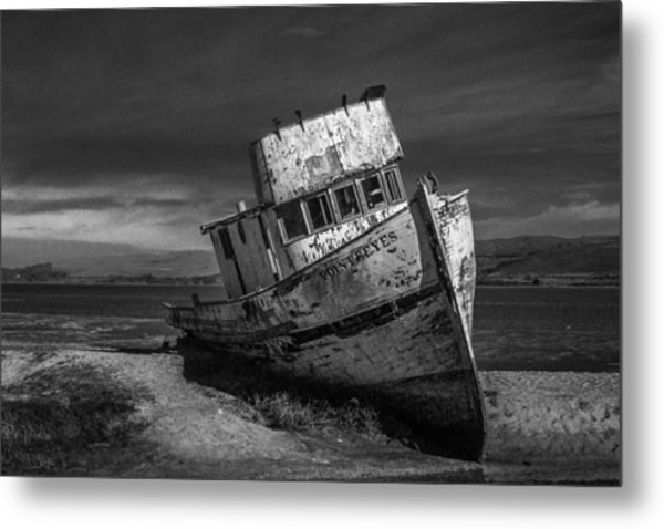 The Point Reyes In Black And White Metal Print