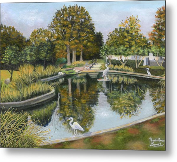 The Pond At Maple Grove Metal Print