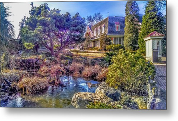 The Pond At Peddler's Village Metal Print