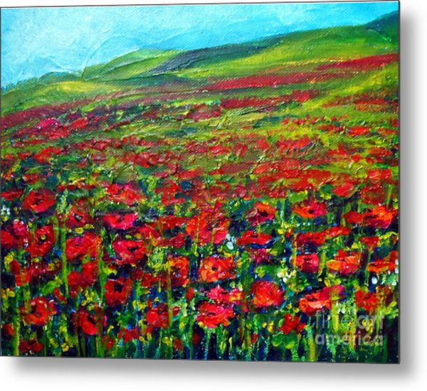 The Poppy Fields Metal Print
