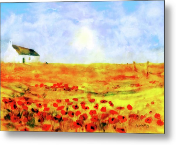 The Poppy Picker Metal Print