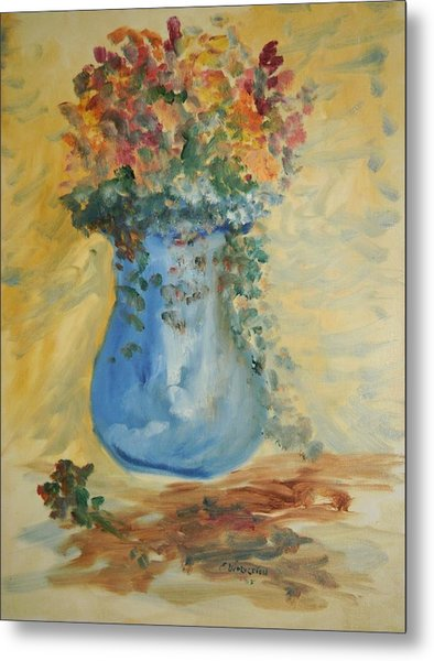 The Pot Belly Vase Metal Print by Edward Wolverton
