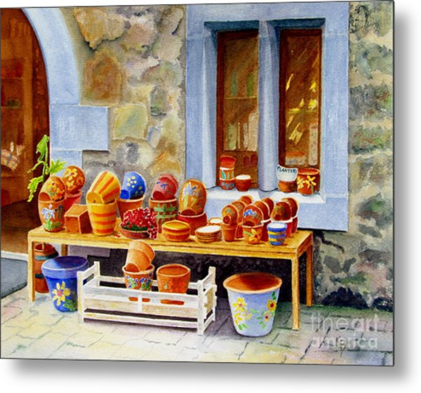 The Pottery Shop Metal Print