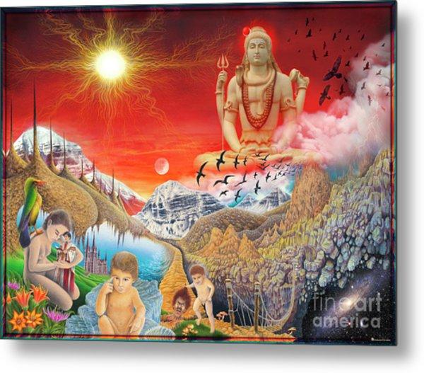 The Power Of Different Gods Metal Print