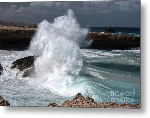 The Power Of The Sea Metal Print