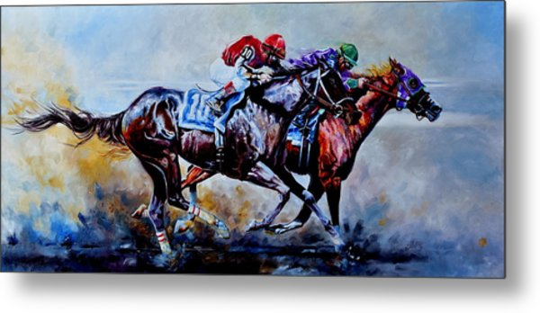 The Preakness Stakes Metal Print