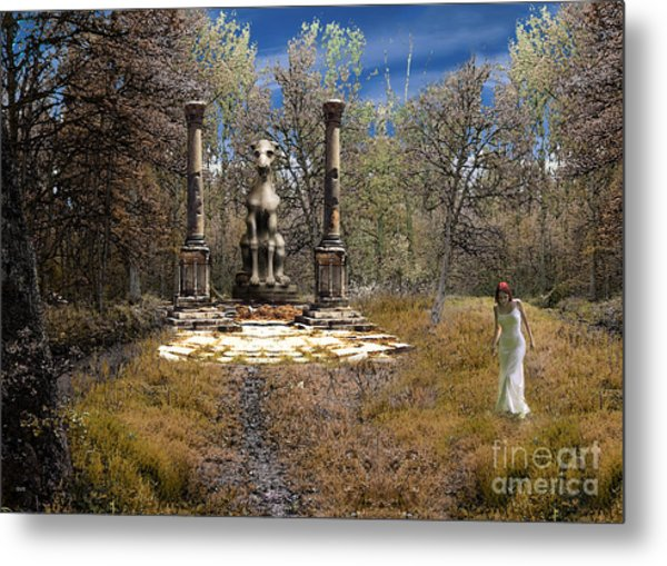 The Priestess Of The Dragon Metal Print by The Hybryds