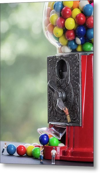 The Problem With Gumball Machines Metal Print