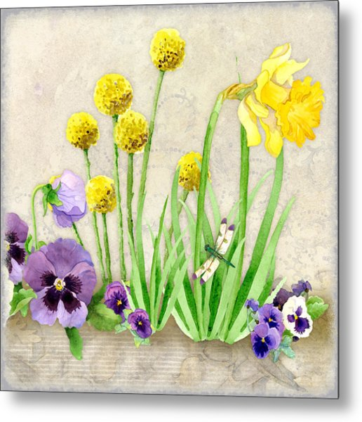 The Promise Of Spring - Dragonfly Metal Print