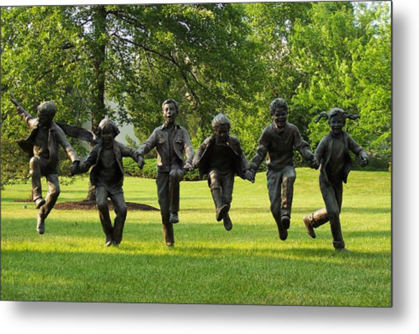 The Puddle Jumpers At Byers Choice Metal Print