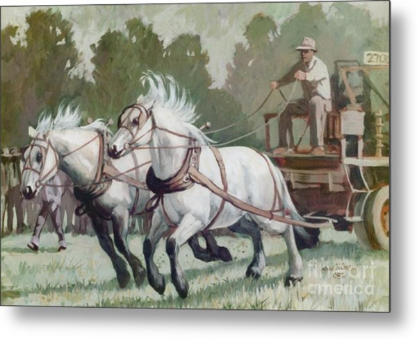 The Pulling Contest Metal Print