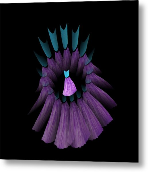 The Purple And Teal Dream Circle Of Wise Women Metal Print by Jacqueline Migell