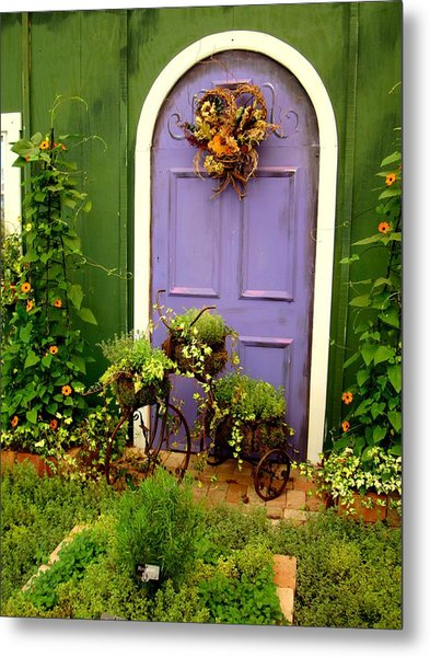 The Purple Door Metal Print