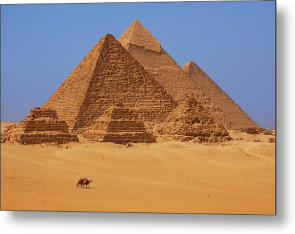 The Pyramids In Egypt Metal Print by Dan Breckwoldt