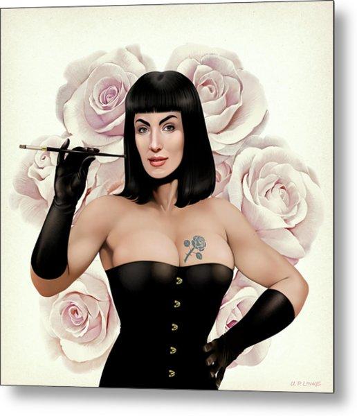 The Queen Of Vintage Roses Metal Print