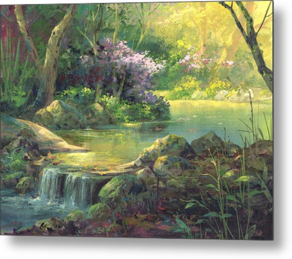 The Quiet Creek Metal Print