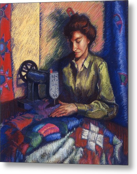 The Quilter Metal Print
