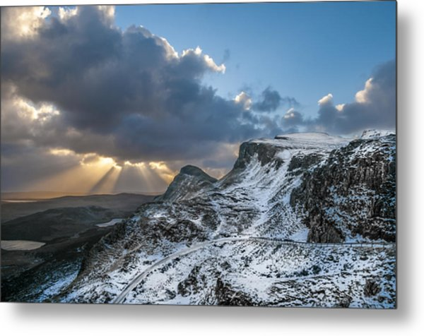 The Quiraing Just After Dawn Metal Print