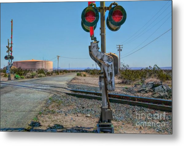 The Railway Crossing Metal Print