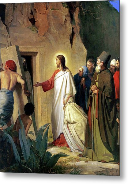 The Raising Of Lazarus Metal Print by Carl Bloch