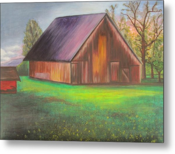 The Ranch Metal Print by Leslie Gustafson