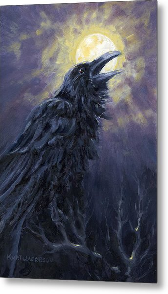 The Raven Called My Name Metal Print