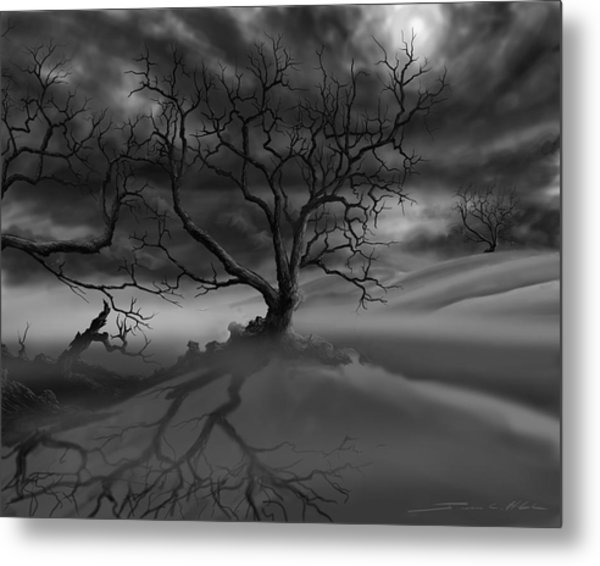The Raven's Night Metal Print