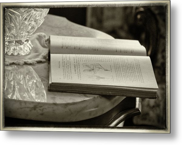 The Reading Table Metal Print
