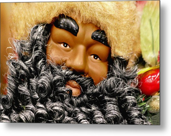 The Real Black Santa Metal Print